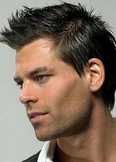 short + spiked men's hairstyle