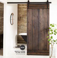 HOME DECOR – SLIDING BARN DOORS – in a modern farmhouse.