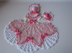 For color inspiration. Miss Belle Crinoline Girl Doily by ElisaleesCreations on Etsy, $15.00