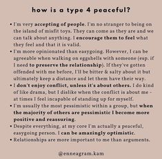 Type 4 Enneagram, Isfp, The More You Know, User Guide, Self Discovery, Pretty Words, Mbti, Personality Types, Numerology