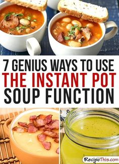 Instant Pot Recipes | My 7 favourite ways to use the Instant Pot soup function that I just can't stop cooking from RecipeThis.com