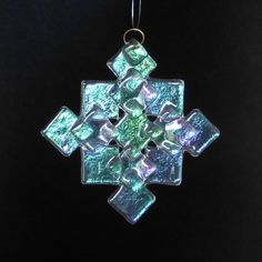 PRISM Iridized Fused Glass Snowflake Ornament Suncatcher