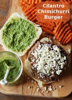 Cilantro Chimichurri Burger!