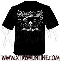 Camiseta de Dissection - Reaper. Camisetas de grupos de Black metal y Death metal. Merchandising oficial. Camisetas de Dissection