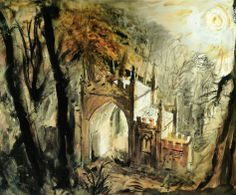 Ideas Landscape Architecture Drawing John Piper For 2020 Landscape Architecture Drawing, Landscape Paintings, Landscapes, John Piper Artist, Just Ink, Watercolor Tips, Royal College Of Art, A Level Art, Abstract