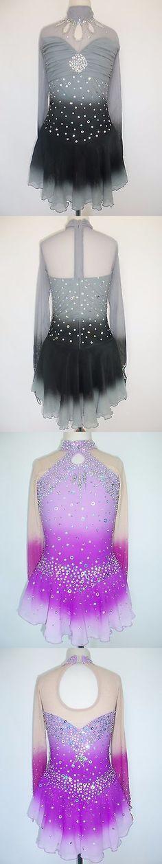 Skating Dresses-Girls 21226: Custom Made Figure Ice Skating Baton Twirling Dress Costume -> BUY IT NOW ONLY: $185 on eBay!
