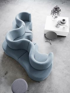 "Verner Panton; 'Cloverleaf' Modular Sofa, 1970. I grew up with a ""couch-pit"", 3 or 4 of these would be divine..."