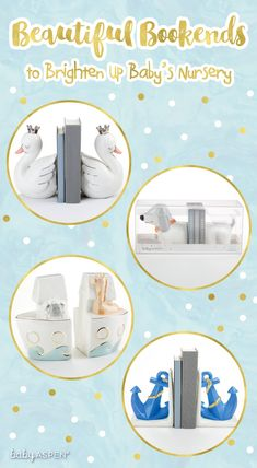 Need some ideas for baby gifts? Get awesome decor for the nursery with these bookends. They're beautiful and fit with any nursery theme. Safari Theme Nursery, Nautical Nursery, Nursery Themes, Nautical Theme, Nursery Decor, Baby Shower Gifts, Baby Gifts, Stylish Themes, Baby Aspen
