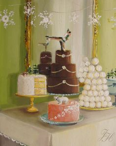 Winter Cakes by Janet Hill