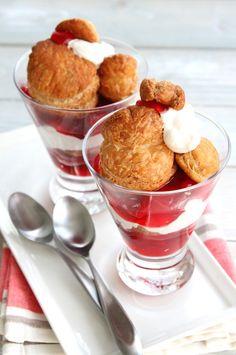Strawberry Rhubarb Citrus Trifles ~ Doughmesstic