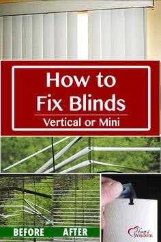 Diy Fixing A Broken Window Blinds Bent Mini Blind Tool Paper Clip Duct Tape