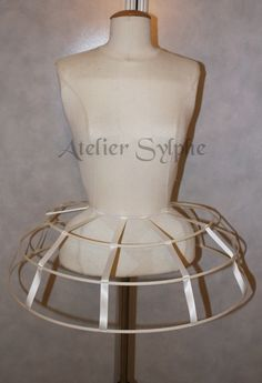 Ivory cream color Crinoline hoop skirt by AtelierSylphecorsets Fashion Show Themes, Fashion Outfits, Corset Sewing Pattern, Cage Skirt, Carnival Dress, Structured Fashion, 18th Century Costume, Make Your Own Dress, Hoop Skirt
