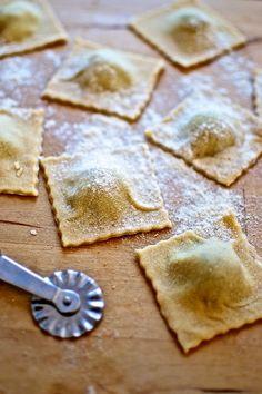 Ravioli de ricotta y albahaca, receta italiana con Thermomix