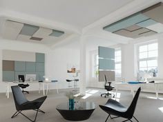 Acoustic ceiling clouds CUBE by Carpet Concept design Carsten Gollnick