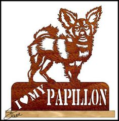 I Love My Papillon Scroll Saw Pattern.
