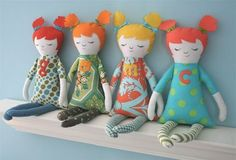 doll pattern - need to get over my fear of the sewing machine and make these