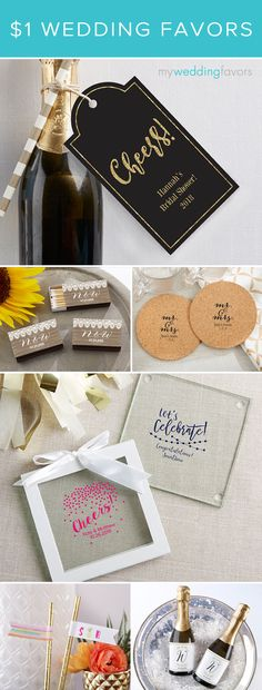 Don't even think about giving up wedding favors because you're working with a smaller-than-expected budget! You'll be absolutely amazed at what 99¢ and less will buy!