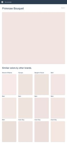 Primrose Bouquet, Behr. Click the image to see similiar colors by other brands.