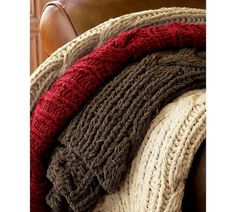 cable knit sweater blankets!