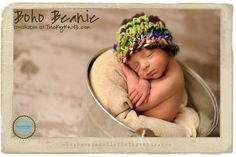 Baby Boy Hat Boho Chunky Beanie Photo Prop for by TrickyKnits, $36.00