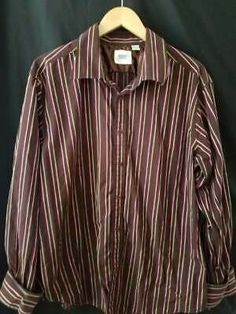 Vintage Flannel Grunge Button Down Shirt Long Sleeve Plaid Brown Mens SM 90s Minimalist Aesthetic