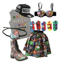 """""""Marvel look"""" by ednaa-hernandez-1 on Polyvore featuring Marvel"""