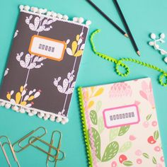 Can you believe these started out as composition notebooks?! See how to make…
