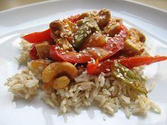 Sweet and Spicy Cashew Tofu