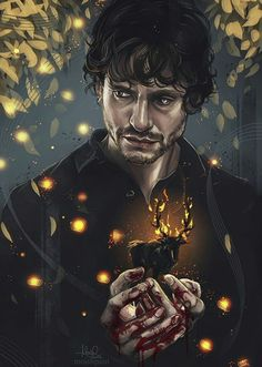 Such a beautiful Will fan art!}< don't know who is this guy but yes it's beautiful Hannibal Lecter, Hannibal Tv Series, Nbc Hannibal, Divas, Sir Anthony Hopkins, Reality Shows, Captive Prince, Will Graham, Hugh Dancy
