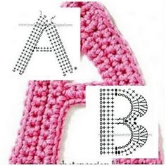 crochet letters--not in English, but there are charts