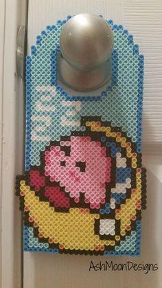 Sleeping Kirby Perler Bead Door Hanger by AshMoonDesigns on Etsy