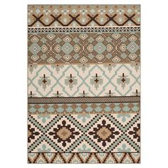 Infuse your home with a sense of eclectic style with this rug, featuring an Aztec-inspired design in muted tones. Suitable for both indoors and out, let it a...