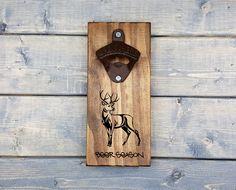 Wall Beer Opener, Wall Bottle Opener, Custom Engraved, Bottle Opener, Beer Opener, Man Cave, Beer Season, Deer, Hunting, Country,
