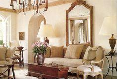 images carol glasser | Houston designer Pam Pierce's living room. The simple fabric dresses ...
