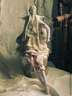 Куклы Тильды ручной работы. Ярмарка Мастеров - ручная работа Ангел-бохо Флёр. Handmade.
