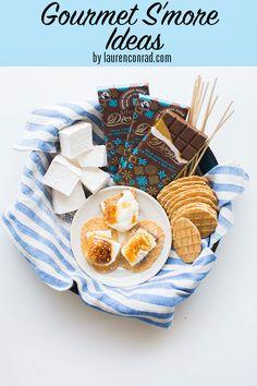 Gourmet S'mores Ideas from Lauren Conrad.