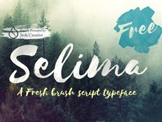 The FREE Selima Font by TheHungryJPEG.com