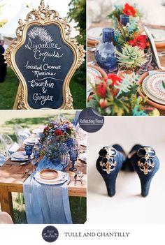 Fall Wedding Colors, Wedding Color Schemes, Blue Wedding, Dream Wedding, Wedding Themes, Wedding Blog, Wedding Events, Wedding Decor, Wedding Ideas