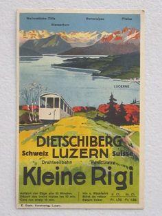 1914 switzerland suisse swiss #travel lucerne advert postcard not poster landolt  from $65.0