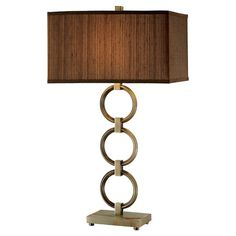 Featuring a linked metal base and box shade, this stylish table lamp adds geometric appeal to your living room or parlor.   Product...
