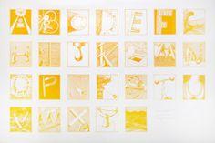 Secret Alphabet No. Alphabet, Typography, Orange, Gallery, Artist, Flowers, Home Decor, Letterpress, Decoration Home