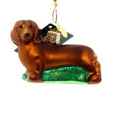 Old World Christmas Dachshund Glass Ornament