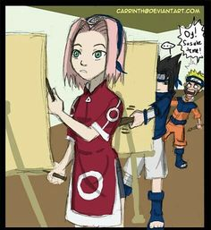 Credit goes to carrinth on deviant art Sorry if i can't post anything in a few days, i have to study and pass my exam. Naruto And Sasuke, Naruto Team 7, Naruto Comic, Naruto And Hinata, Naruto Cute, Naruto Girls, Sakura And Sasuke, Naruto Shippuden Anime, Sakura Haruno