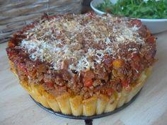 Czary w kuchni- prosto, smacznie, spektakularnie.: Makaronowy torcik z wołowiną Pie, Pasta, Homemade, Desserts, Food, Torte, Tailgate Desserts, Pastel, Meal
