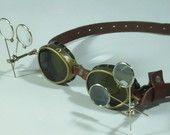 Steampunk Brass Goggles Steam Punk Victorian Cosplay LARP