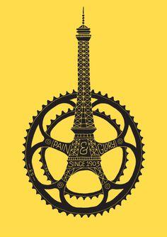 Le Tour De France 100th Anniversary #flat #design #poster