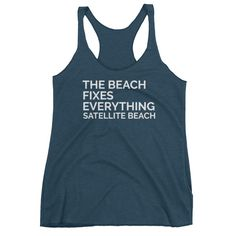 The Beach Fixes Everything Women's Racerback Tank