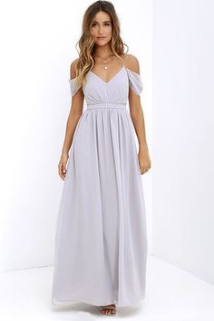 Quite the Charmer Grey Maxi Dress at Lulus.com!