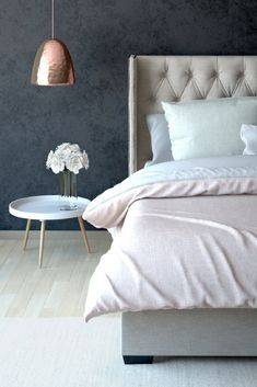 Stella Gas Lift King Size Bed Frame #brosadesign www.brosa.com.au