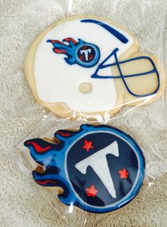 Tennessee Titans Football Helmets/ Logo Cookies